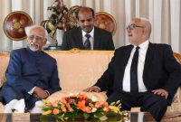 Vice President, M. Hamid Ansari with the Prime Minister of Morocco, Abdelilah Benkirane on his arrival