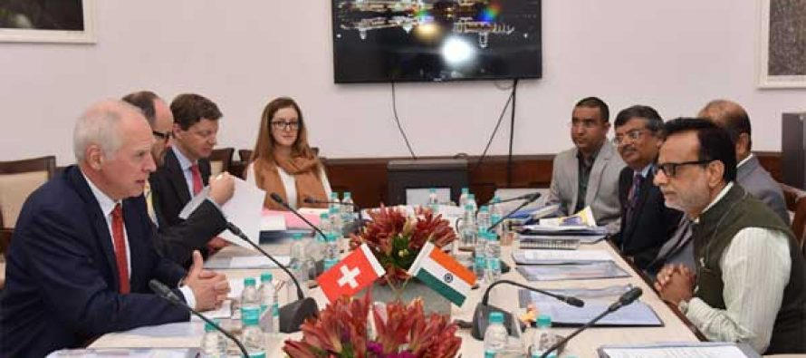 Secretary, Department of Revenue, Dr. Hasmukh Adhia in a meeting with the State Secretary for International Financial Matters of Switzerland