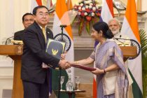 Prime Minister, Narendra Modi and the Prime Minister of the Kingdom of Thailand, General Prayut Chan-o-cha