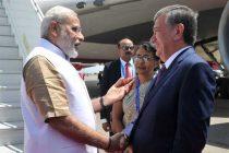 Modi arrives in Tashkent for SCO summit
