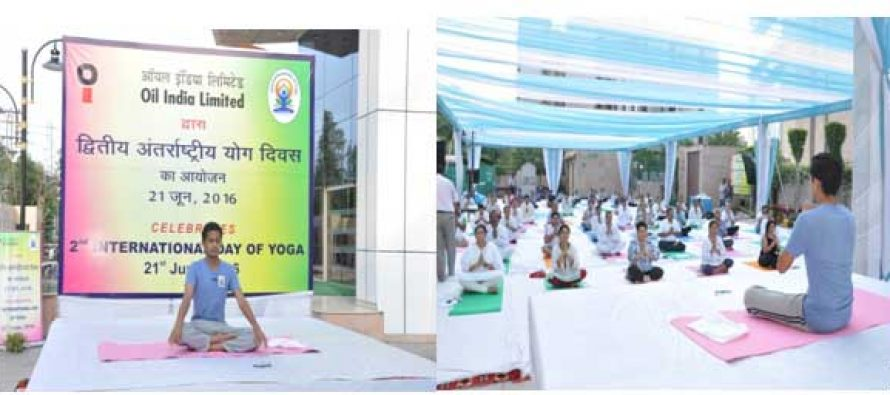 OIL INDIA LIMITED Observes 2nd International Day of Yoga-2016