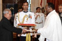 Ambassador-Designate of the Federal Democratic Republic of Ethiopia, Asfaw Dingamo Kame presenting his credentials