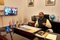 Hansraj Gangaram Ahir taking charge as Minister of State for Home Affairs, in New Delhi.