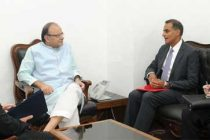 US Ambassador to India, Richard R. Verma calling on the Union Minister for Finance and Corporate Affairs, Arun Jaitley