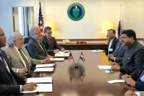 Minister of State for Petroleum and Natural Gas (IC), Dharmendra Pradhan meeting the US Secretary of Energy, Dr. Ernest Moniz