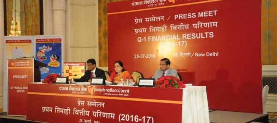 PNB Declares Financial Results for Q1 Fy'17