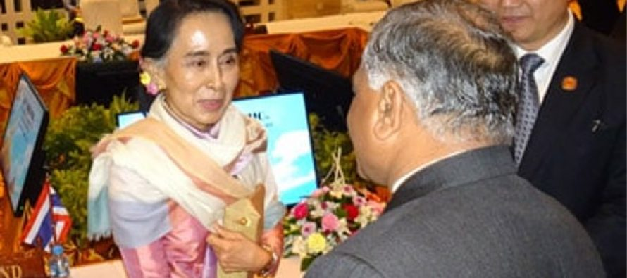 V.K. Singh meets Aung San Suu Kyi