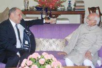 Ambassador of Tunisia to India, Tarek Azouz calling on the Vice President, M. Hamid Ansari, in New Delhi on August 11, 2016.