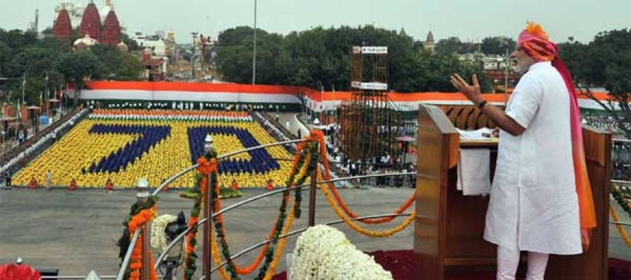 The Prime Minister, Narendra Modi addressing the Nation on the occasion of 70th Independence Day
