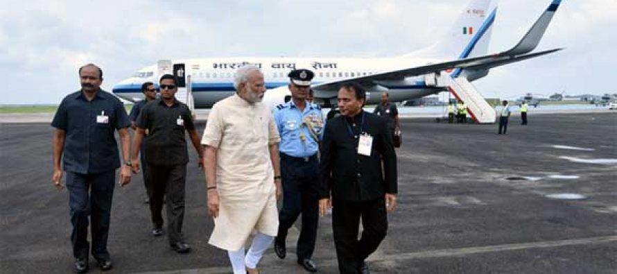 Modi reaches Gujarat to inaugurate irrigation project