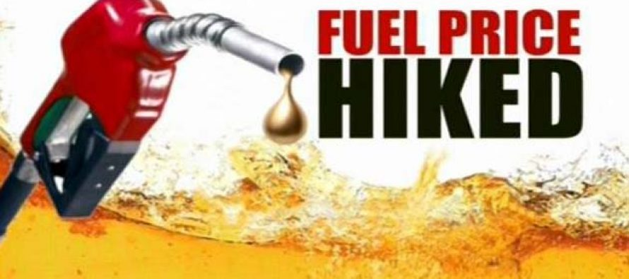Petrol hiked 14 paise/litre, diesel by 10 paise