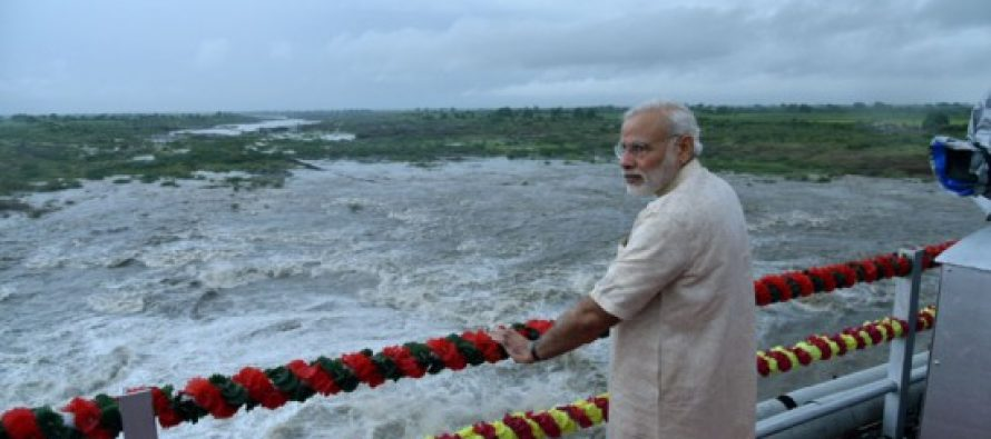 PM inaugurates ambitious water project in Gujarat, revives development plank