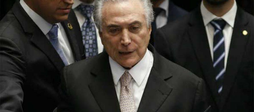 Michel Temer sworn in as new Brazil president
