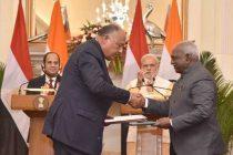 India, Egypt sign agreement on maritime transport