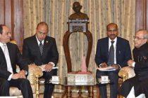 The President of the Arab Republic of Egypt, Abdel Fattah el-Sisi calling on the President, Pranab Mukherjee