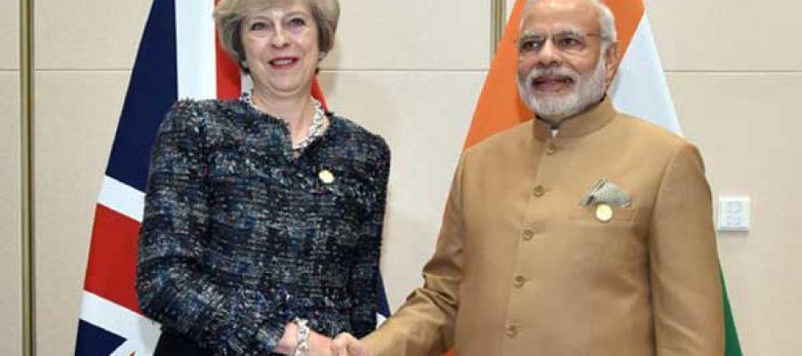 Modi meets Theresa May at G20 Summit