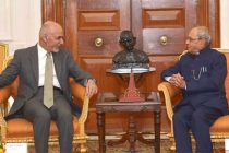 President of Afghanistan, Dr. Mohammad Ashraf Ghani meeting the President, Pranab Mukherjee, at Rashtrapati Bhavan