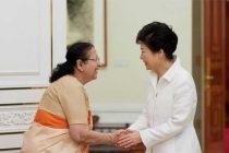 Lok Sabha Speaker Sumitra Mahajan calls on President of South Korea