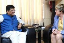Ambassador of Finland to India, Nina Vaskunlahti meeting the MoS for Power, Coal, New and Renewable Energy and Mines (IC),