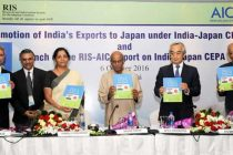 MoS for Commerce & Industry (IC), Nirmala Sitharaman releasing the RIS Study Report on on India-Japan CEPA,
