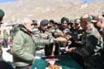 Modi shares Diwali sweets with soldiers near China border
