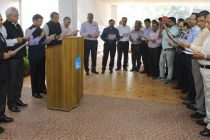 NBCC CMD Administers Vigilance Pledge to Officers