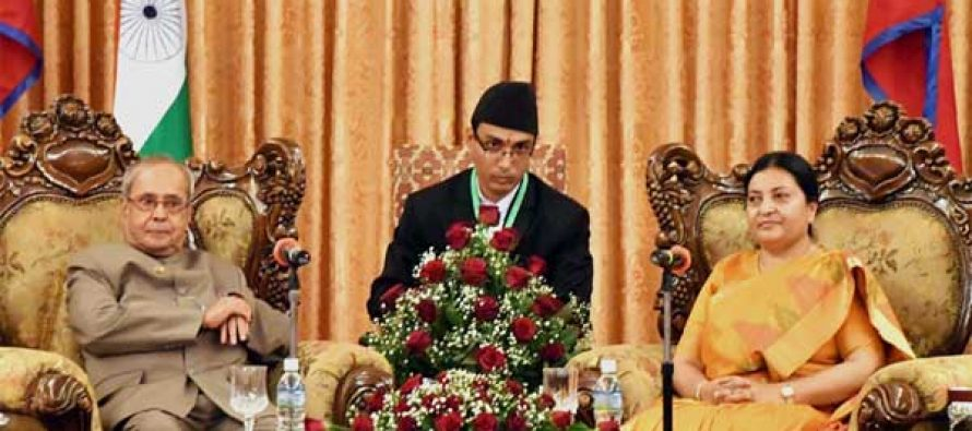 President Mukherjee holds talks with Nepalese counterpart