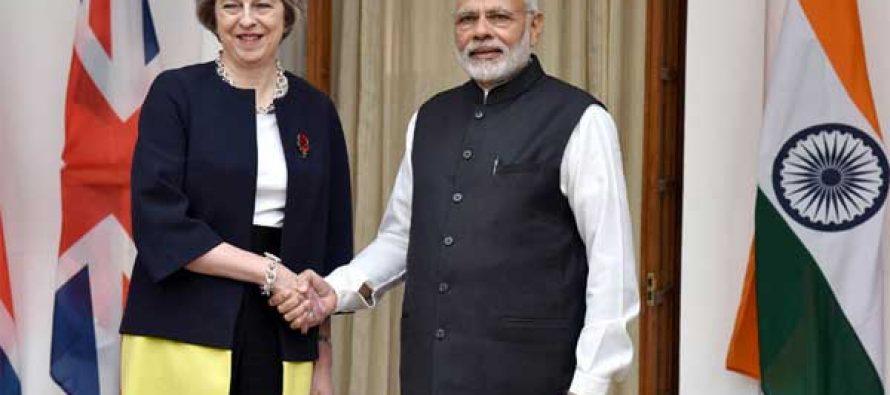 Modi meets British Prime Minister