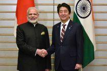 Prime Minister, Narendra Modi with the Prime Minister of Japan, Shinzo Abe, at Kantei (Japan Prime Minister's Official Residence),