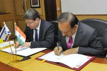 Minister for Science & Technology and Earth Sciences, Dr. Harsh Vardhan and the Minister of Science, Technology and Space, Israel