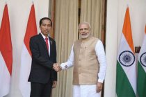 Prime Minister, Narendra Modi with the President of Indonesia, Joko Widodo, at Hyderabad House