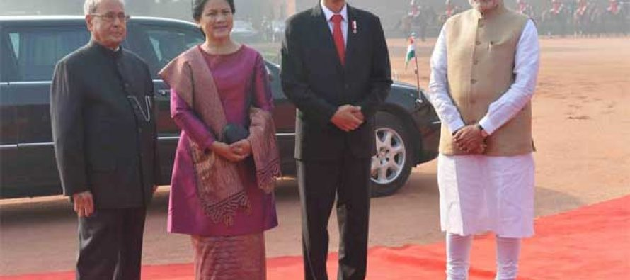 Indonesian President Widodo accorded ceremonial welcome