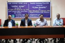 Lecture by SP Bhushan G Borase on Cyber Security in MRPL during Security Awareness Week