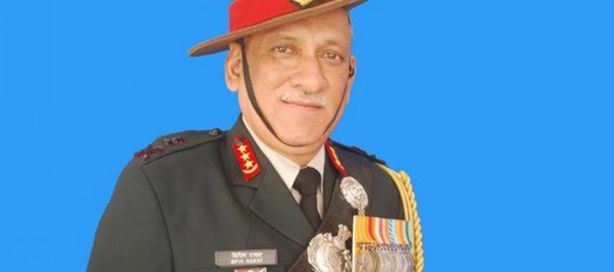 Outgoing army chief, Gen Bipin Rawat named India's first CDS