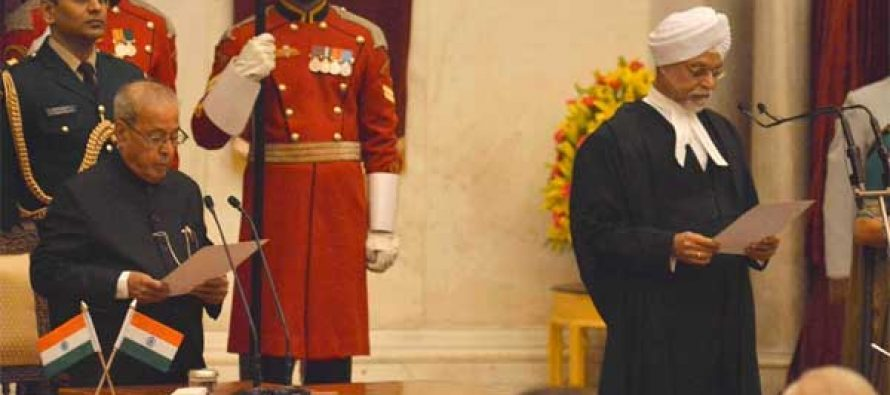 Justice Khehar sworn in as Chief Justice of India