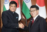 MoS for Power, Coal, New and Renewable Energy and Mines (IC), Piyush Goyal and the Minister of Economy, Trade and Industry, Japan, Hiroshige Seko
