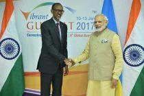 Prime Minister, Narendra Modi meeting the President of Rwanda, Paul