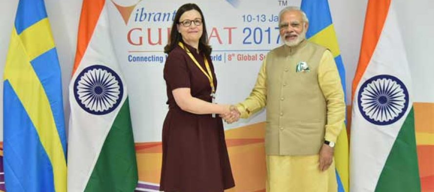 Modi meets Swedish Minister, invites more investment in flagship ventures