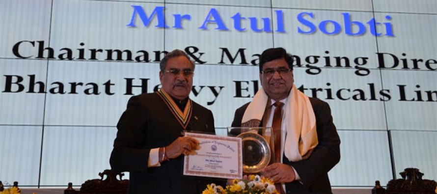 CMD, BHEL honoured as eminent engineering personality by the The Instituition of Engineers