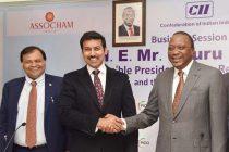 MoS for Information & Broadcasting, Col. Rajyavardhan Singh Rathore with the President of Kenya, Uhuru Kenyatta