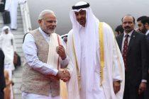 Modi receives Abu Dhabi Crown Prince at airport