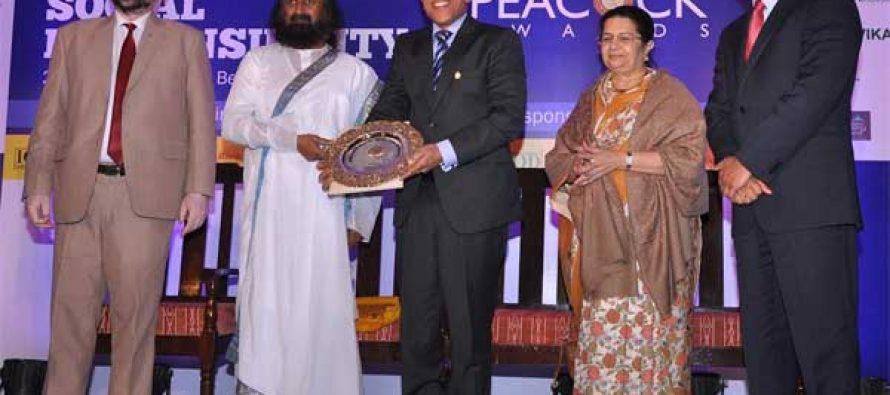 Canara Bank bags Golden Peacock Award for Corporate Social Responsibility for 2016