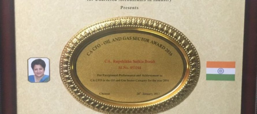 Best CFO Award for OIL's Director (Finance) by ICAI