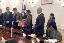 MoS for Commerce & Industry (IC), Nirmala Sitharaman and the Deputy Prime Minister of Croatia, Martina Dalic