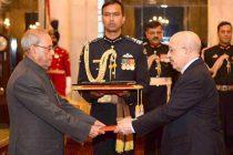 Ambassador-designate of Yemen, Abdulmalik Abdullah Al-Eryani presenting his credentials to the President, Pranab Mukherjee,