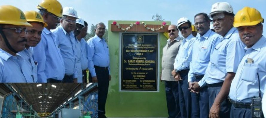 BELT RECONDITIONING PLANT INAUGURATED IN MINE-II BY DR. SARAT KUMAR ACHARYA, CMD, NLC