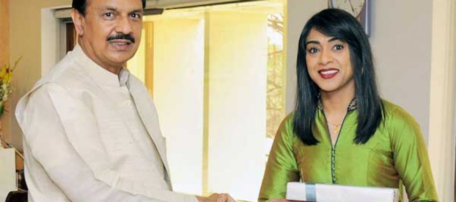 House Leader and Minister of Small Business and Tourism, Canada, Ms. Bardish Chagger calls on the MoS for Culture and Tourism (IC),