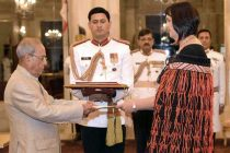 High Commissioner-Designate of New Zealand, Joanna Kempskers presenting her credentials to the President, Pranab Mukherjee