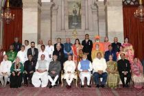 President Mukherjee confers Padma awards