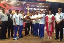 37th Inter Unit PSPB Carrom Tournament held at MRPL, Mangaluru